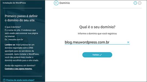 Configure a WordPress em poucos cliques